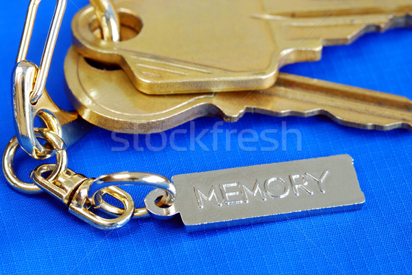 Keychain with the word Memory concepts of remembering the love ones at home Stock photo © johnkwan