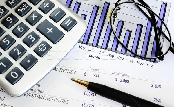 Ellenőrzés üzlet előadás beruházás növekedés pénzügy Stock fotó © johnkwan