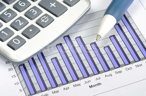 Business charting concept of financial report Stock photo © johnkwan