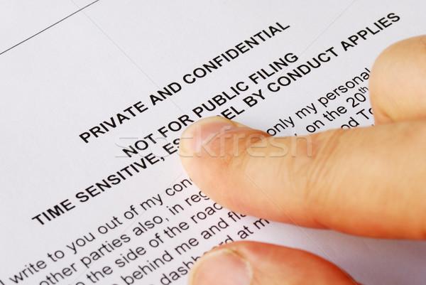 указывая конфиденциальность конфиденциальный глазах дизайна военных Сток-фото © johnkwan