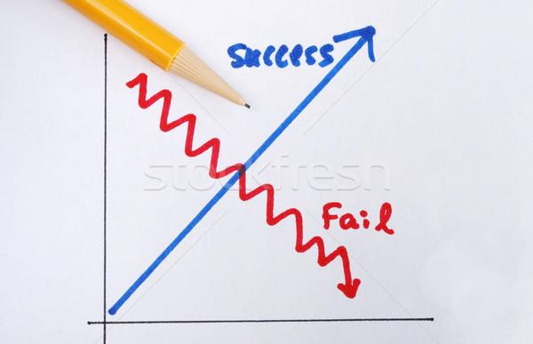 Siker kudarc fogalmak siker üzlet felirat Stock fotó © johnkwan