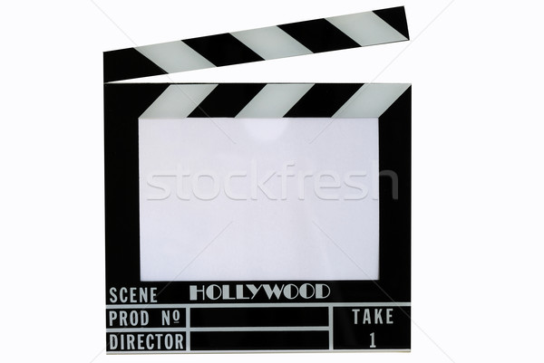 A Hollywood movie clapper board (Clap slate), text in the clapper area Stock photo © johnkwan