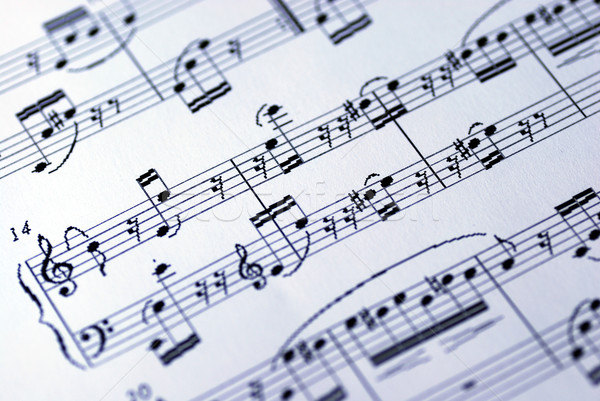 Music sheet on the white background Stock photo © johnkwan