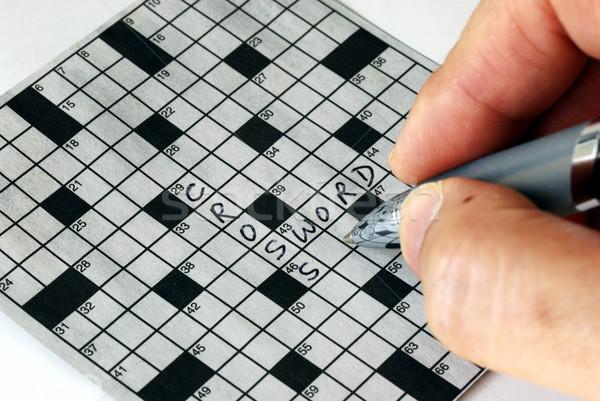 Kruis woord puzzel krant Stockfoto © johnkwan