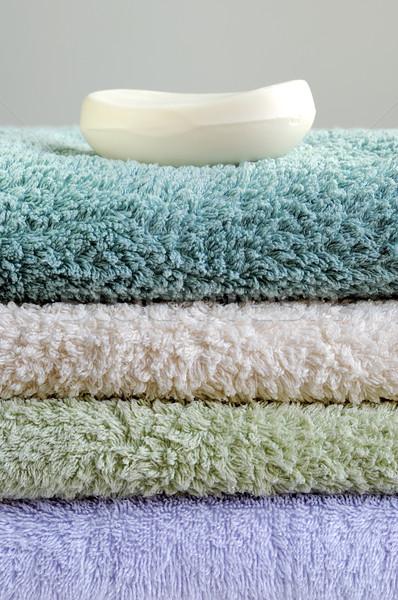 Sopa toalhas estância termal Foto stock © johnkwan