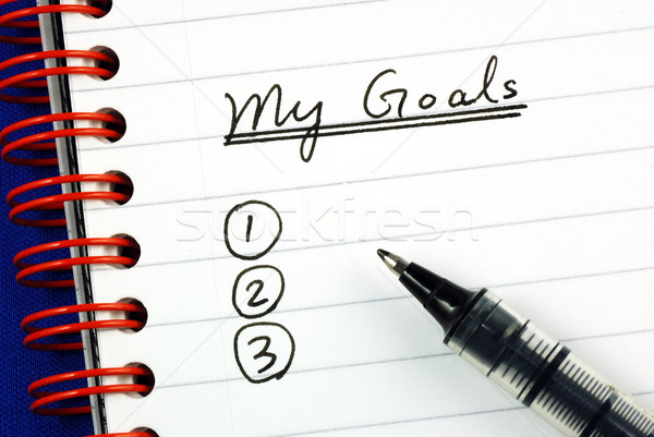 My goals list concepts of target and objective Stock photo © johnkwan