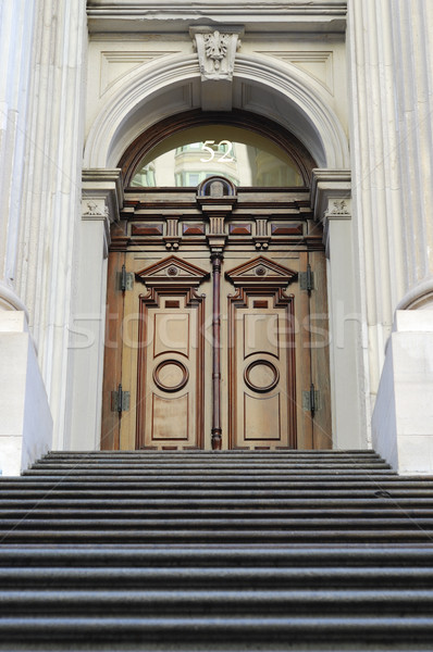 Entrance door from the City Hall in New York City Stock photo © johnkwan
