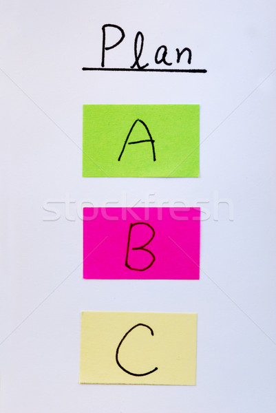 Plan A B C concepts of changes in business Stock photo © johnkwan