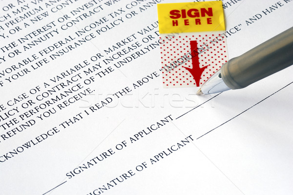 Stock photo: Sign your name here on the contract