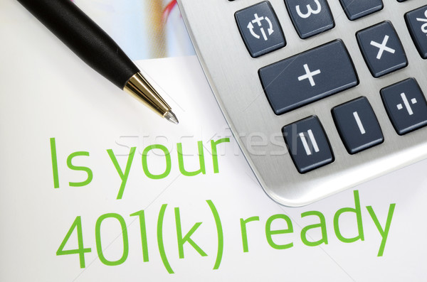Focus on the investment in the 401K plan concept of finance and retirement Stock photo © johnkwan
