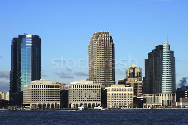 Skyline обмена место Нью-Джерси бизнеса небе Сток-фото © johnkwan