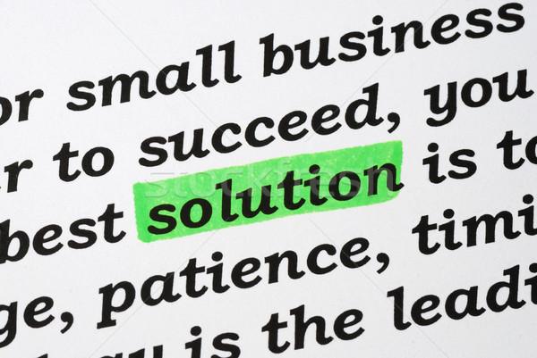 Woord oplossing problemen business weg Stockfoto © johnkwan