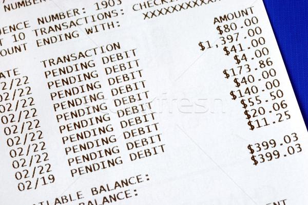Banking atm Transaktion isoliert blau Stock foto © johnkwan