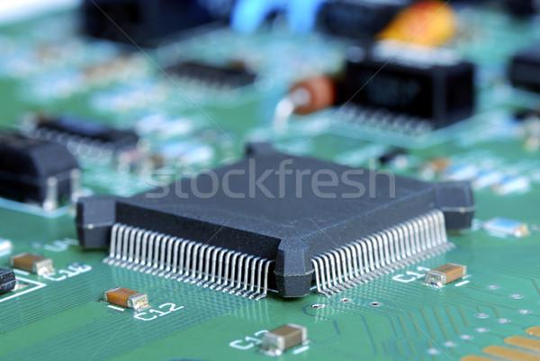 Primo piano view computer circuito sfondo informazioni Foto d'archivio © johnkwan