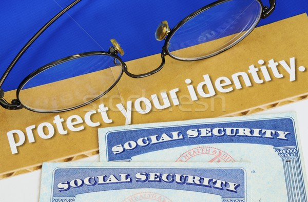 Stock photo: Protect personal identity concept of privacy theft