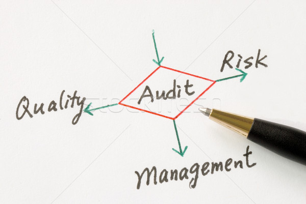 Several possible outcomes of performing an audit Stock photo © johnkwan