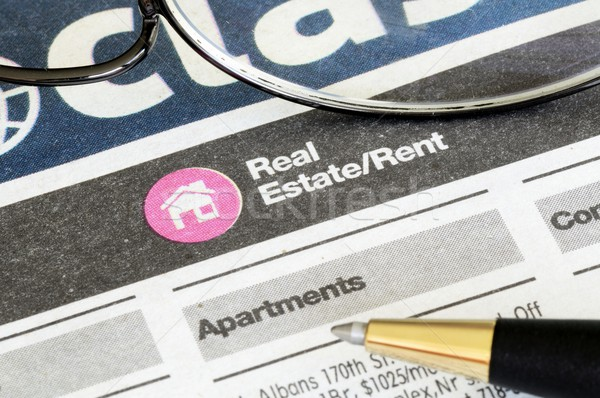 Classifieds advertisement concept of real estate sales and rental Stock photo © johnkwan