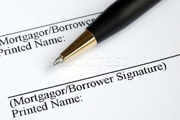 Imzalamak ad burada ipotek uygulama çalışmak Stok fotoğraf © johnkwan