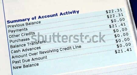 Check out the interest rates from the newspaper Stock photo © johnkwan