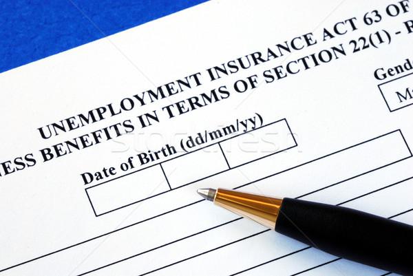Uit toepassing vorm werkloosheid verzekering baan Stockfoto © johnkwan