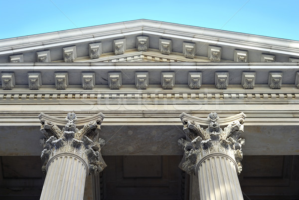 Neoclassical architecture with columns from the City Hall in New York City Stock photo © johnkwan