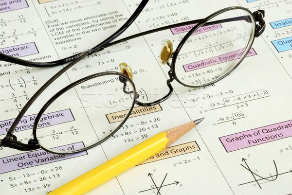 Photo stock: Lycée · mathématiques · crayon · étude · nombre · enseignement