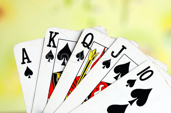 Royal flush from the poker cards concepts of winning Stock photo © johnkwan