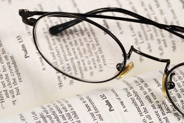 Stockfoto: Paar · bril · boek · kennis · onderwijs