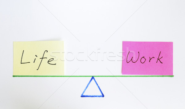 Balance work and life concept of equilibrium and lifestyle Stock photo © johnkwan