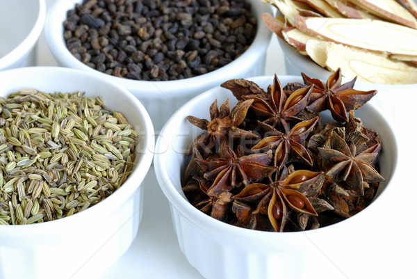 Various kinds of herbal spices such as anise stars Stock photo © johnkwan