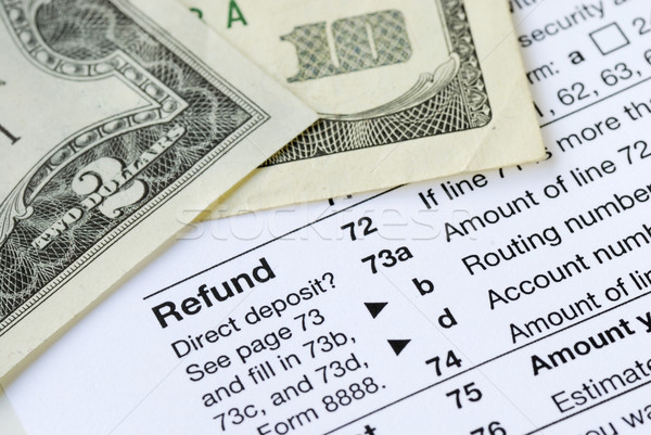 Money refunded on the United States tax return  Stock photo © johnkwan
