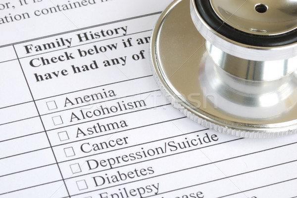 Fill out the family history section in the medical questionnaire Stock photo © johnkwan