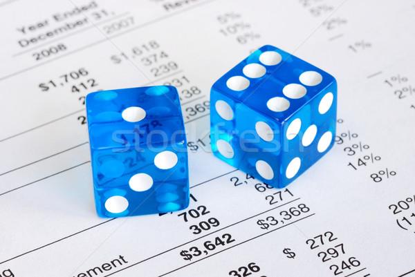 Risico belonen business dobbelstenen spelen Stockfoto © johnkwan