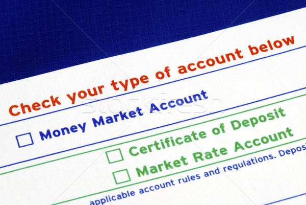 Select your bank account in the deposit slip Stock photo © johnkwan
