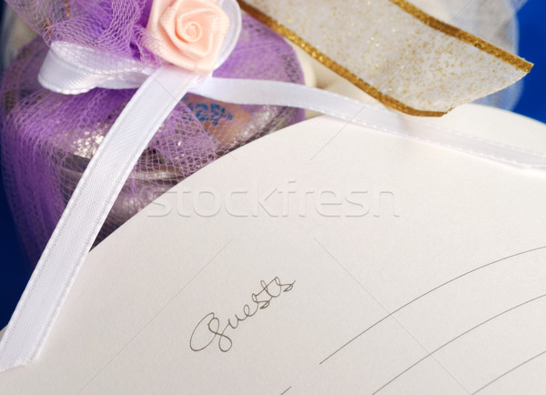 Sign the wedding guest book  Stock photo © johnkwan