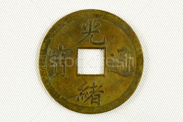 Chinese coin from the Qing Dynasty about 200 years ago Stock photo © johnkwan