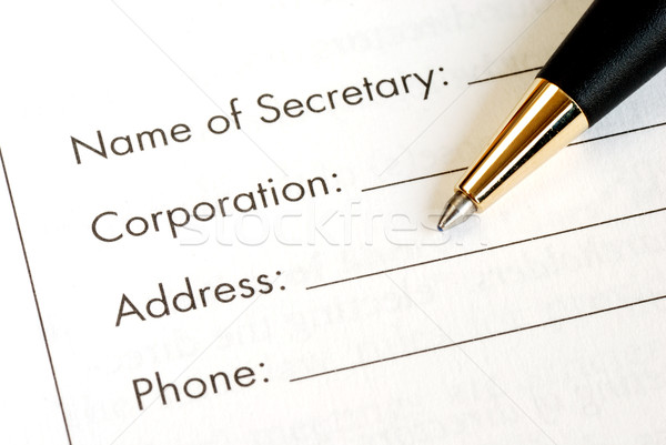 Fill in the information of a corporation Stock photo © johnkwan