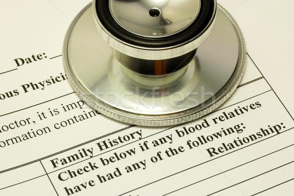 Relleno familia historia médicos cuestionario Foto stock © johnkwan