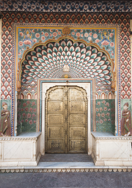 Kapı şehir saray Hindistan duvar Stok fotoğraf © johnnychaos