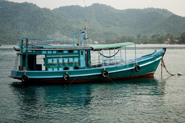 Halászhajók zöld Thaiföld víz tenger óceán Stock fotó © johnnychaos
