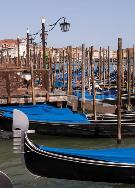 Parked gondolas in Venice, Italy Stock photo © johnnychaos