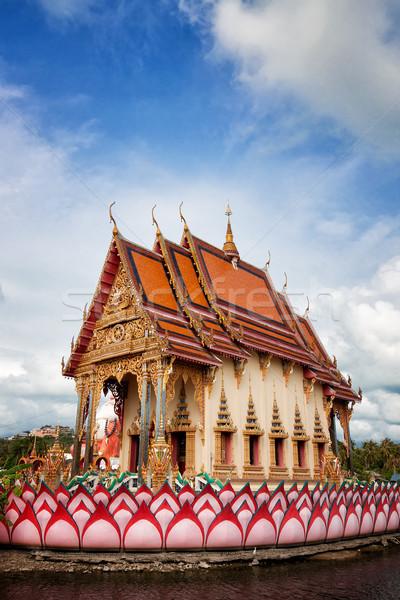 Tempel Thailand eiland licht palm Stockfoto © johnnychaos