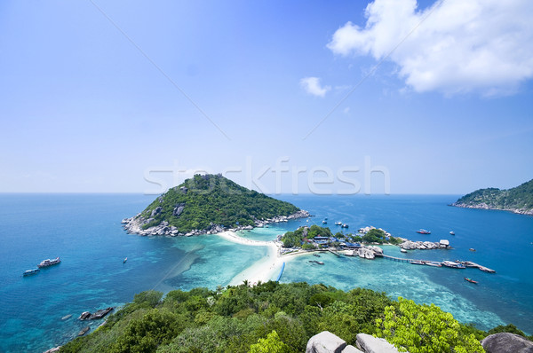 Eilanden Thailand twee water zon landschap Stockfoto © johnnychaos
