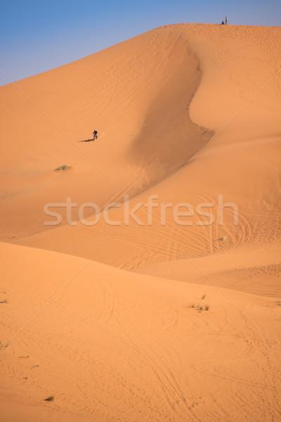 Fas sahara çöl motosiklet üst kumul Stok fotoğraf © johnnychaos