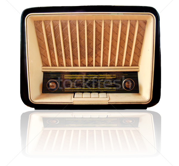 Old retro radio Stock photo © johnnychaos