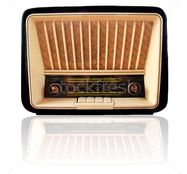 Vecchio retro radio isolato bianco Foto d'archivio © johnnychaos