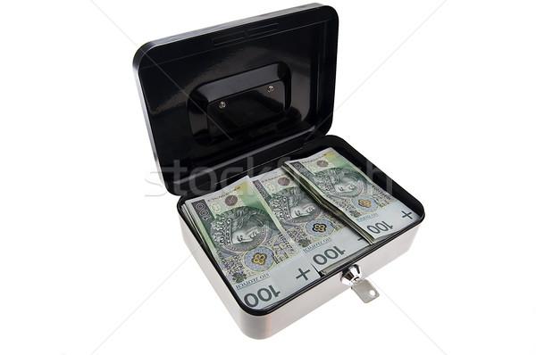 Geld cash vak zwarte geïsoleerd witte Stockfoto © johnnychaos