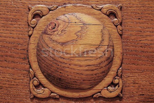 Fából készült dekoráció öreg közelkép fotó Stock fotó © johnnychaos