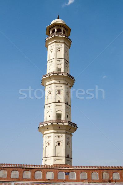 Minareto India blu Windows religione luce del sole Foto d'archivio © johnnychaos