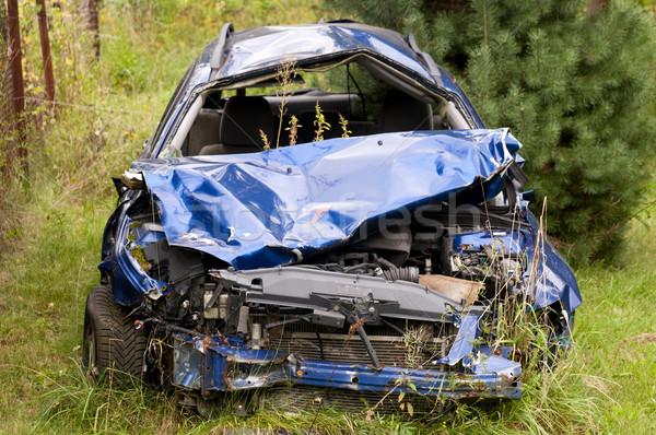 Carro destruir velho enferrujado abandonado Foto stock © johnnychaos